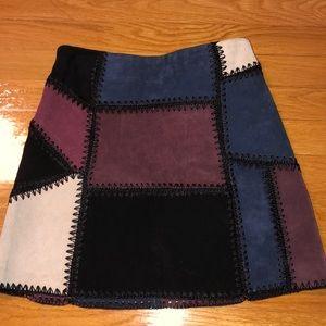 Zara real leather skirt